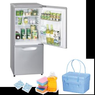 冷蔵庫、クーラーボックス、冷蔵庫の掃除道具、保冷剤